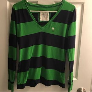 Abercrombie rugby striped long sleeve T-shirt